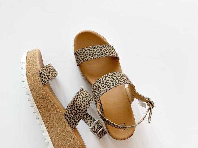 Time and Tru Animal Print Flatform Sandal
