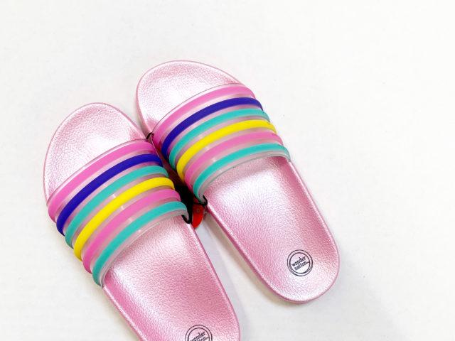 Wonder Nation Rainbow Slide Sandals
